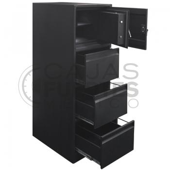 Archivero con caja fuerte - 3 gavetas + 1 caja